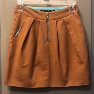 ZARA High Waisted Pleated Mini Skirt w/Pockets S02